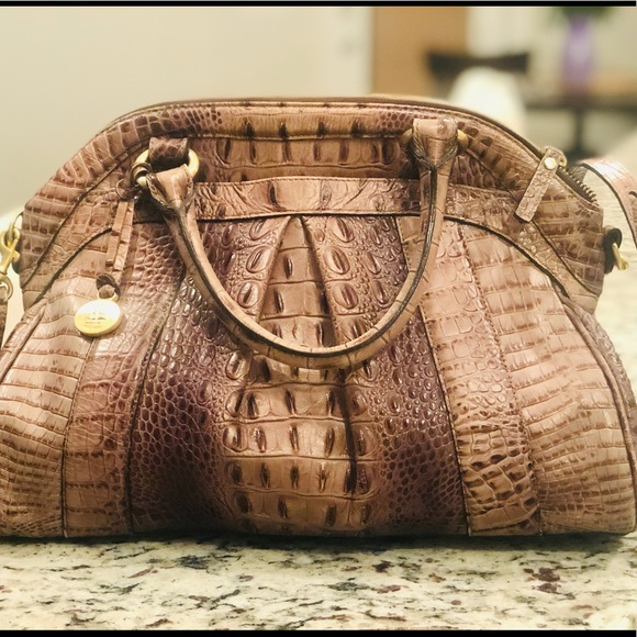 Brahmin Handbags - Brahmin Brown Taupe Louise Satchel